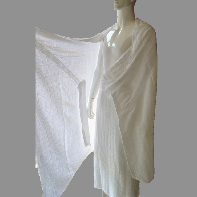 Hajj Ihram towels with self-fixing belt system