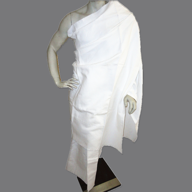 Cotton Ihram with self-fixing belt system